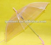 prink fashion rain transparent umbrella
