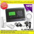 Portátil de humo detector de humo de equipo de prueba de teclado inalámbrico de alarma con teclado táctil yl- 007m2bx