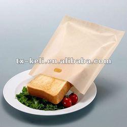 PTFE fiberglass fabric reusable heat resistant oven roasting bag