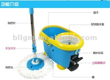 easy life spin dust mop four device cleaning mob with PP basket