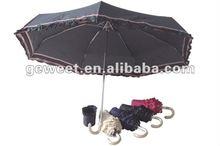 cheapest fashion 5 folding ladies rain umbrella with lace
