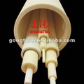 recrystalised al2o3 alumina refratário fornos tubos