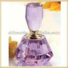 Purple Crystal Wedding Favor Perfume Bottle For Bride Gifts