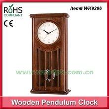 26.3x52.5cm High quality quartz glass wood wall clock chime pendulum clock