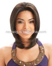 Synthetic Kanekalon Silk Skin Mono Top Lace Wigs