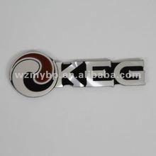 Aluminum diamond cut nameplates aluminum car emblem badge