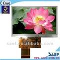 4.3 pulgadas de pantalla táctil con alta luminosidad flexible TFT LCD display