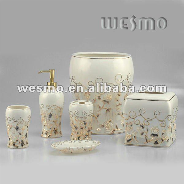 Set De Baño Bambu Dupree:de porcelana en relieve set de baño-Instalaciones de baños