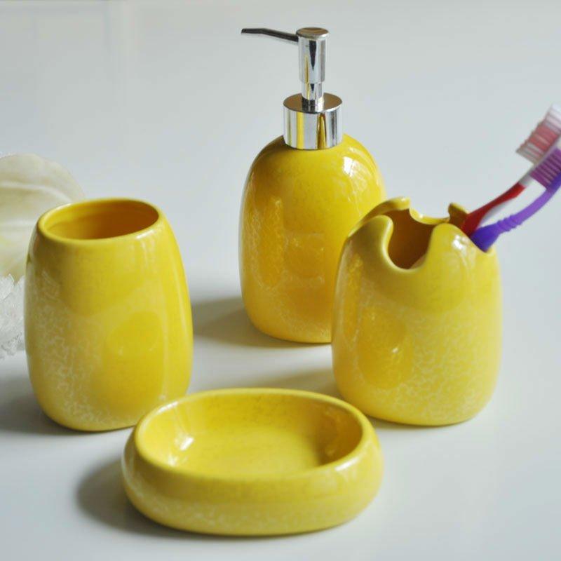 Accesorios Baño Amarillo:hermoso color amarillo accesorios de baño-Instalaciones de baños