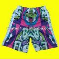 100% de poliéster de lacrosse pantalones cortos con la impresión de sublimación