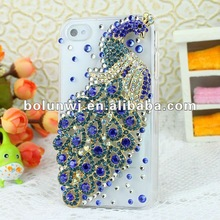 In 2012,The BLUE Peacock Cell Phone Case Cover Rhinestone Bling Cell Phone Case Cover Designer Cell Phone Covers for iphone case