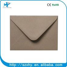 2015 high quality orange paper kraft envelope with logo printed