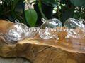 Boules en verre accrochantes soufflées par main aplatie aux pôles MH-12254 de décor