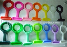 bright colours nurse pocket silicone digital logo watch company (CH12335)