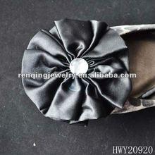 2012 fashion fabric shoe flower