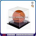 Personalizado tsd-a142 buen precio claro de acrílico exhibición de baloncesto caja/exhibición de baloncesto rackpromotional baloncesto stand
