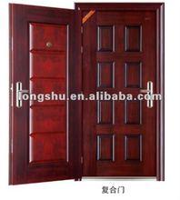 double exterior steel wooden door