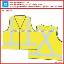 yellow color reflective safety vest with good design