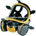 Lucha contra el fuego de gas máscara de doble filtro, completo de silicona máscara de la cara, filtro de carbón activado máscara de gas