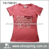 cotton round neck women t shirt