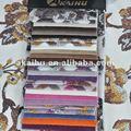Púrpura 100% corte de poliéster impresa terciopelo telas de tapicería