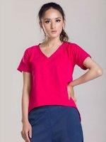 YIGELILA Ladies New Fashion modal V neck T-shirt 721