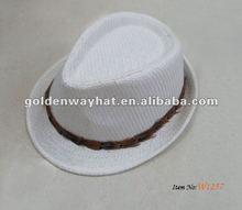 blanco top de la moda sombrero barato