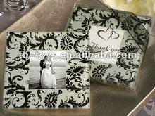 Wedding gift favor Practical Wedding Favors Damask Design Glass Photo Coaster Favors