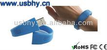 Silicone usb flash drive bracelet shape waterproof