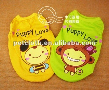 lovely cartoon design dog jacket for your special pets