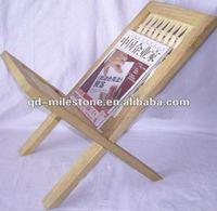 antique and elegant wooden magazine rack