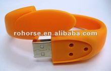 Unique Green Wrist Strap Bracelet USB 4G U Disk Flash Memory Drive,usb pen drive small size usb flash stick