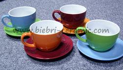 450cc Big Large Oversized Ceramic Coffee Tea Cups With Saucers