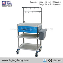 CE approved ABS/Aluminum Alloy molding Medical Hospital Trolley