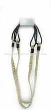 Fashion Golden shiny Flat elastic headband