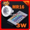 LED bulb 2 years warranty DC 12V 3W MR16 16 Colors RGB LED Spotlight