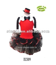 TZ-D2309 beautiful dance dress,fancy dance dress,girls dance dress for party
