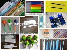 PE PP plastic drink straw extrusion machinery unit/ball pen refill tube machine