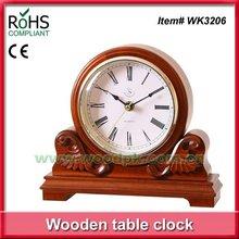 25x22cm Best selling goods wood desk clock antique mantel clock