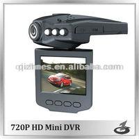 dual camera car dvr 12v hd 720p QZ-XH03 with 6 ir LED lights