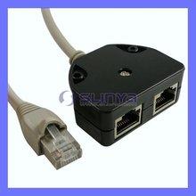 Ethernet Splitter LAN RJ45 Splitter adaptador de rede cabo Splitter