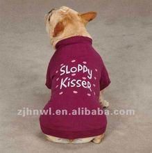 purple dog plain t-shirt/pet t-shirt/dog apparel