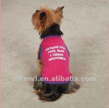 binding printed plain dog t-shirt/pet t-shirt/dog apparel