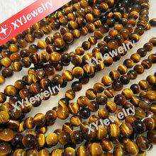 Semi-preciouse Gemstone Beads Yellow Color 4--20mm Round Tiger's Eye Beads