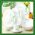 fresh desgin populares restaurante material de porcelana pintada de branco tigelas de sopa e prato e prato