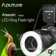 New Aputure camera dslr led ring flash light for Canon and Nikon
