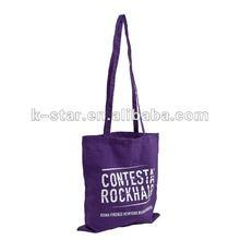 Eco custom purple canvas cotton shopping bag