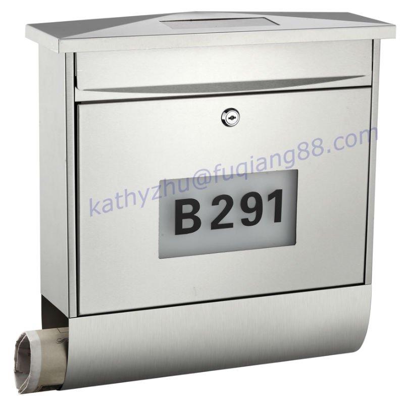 edelstahl solar fq 196 mailbox briefkasten briefkasten. Black Bedroom Furniture Sets. Home Design Ideas
