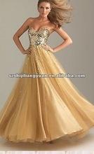 sj1092 new design low price wholesale custom bead evening dress