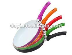 Aluminum Colorful Ceramic coating Frying Pan